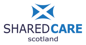 The logo for Shared Care Scotland
