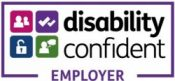 The logo for the Disability Confident Employer scheme