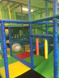 Inside the play fortress in the COJAC softplay area