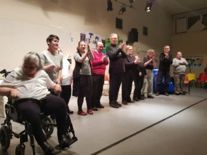 Adult services users of COJAC performing their 2018 show